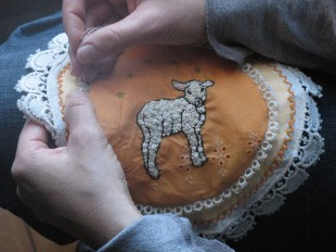 Little Lamb embroidery